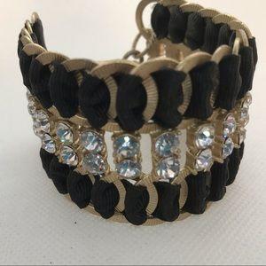 Jewelry - Cuff bracelet chains rhinestones